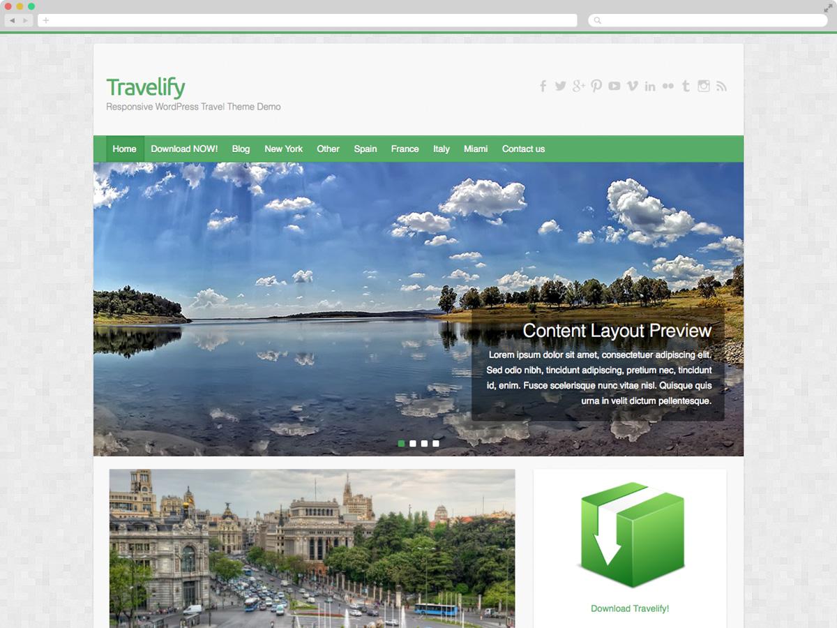 Travelify - Theme WordPress du lịch miễn phí