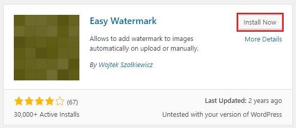 Easy Watermark - Plugin đóng dấu bản quyền hình ảnh