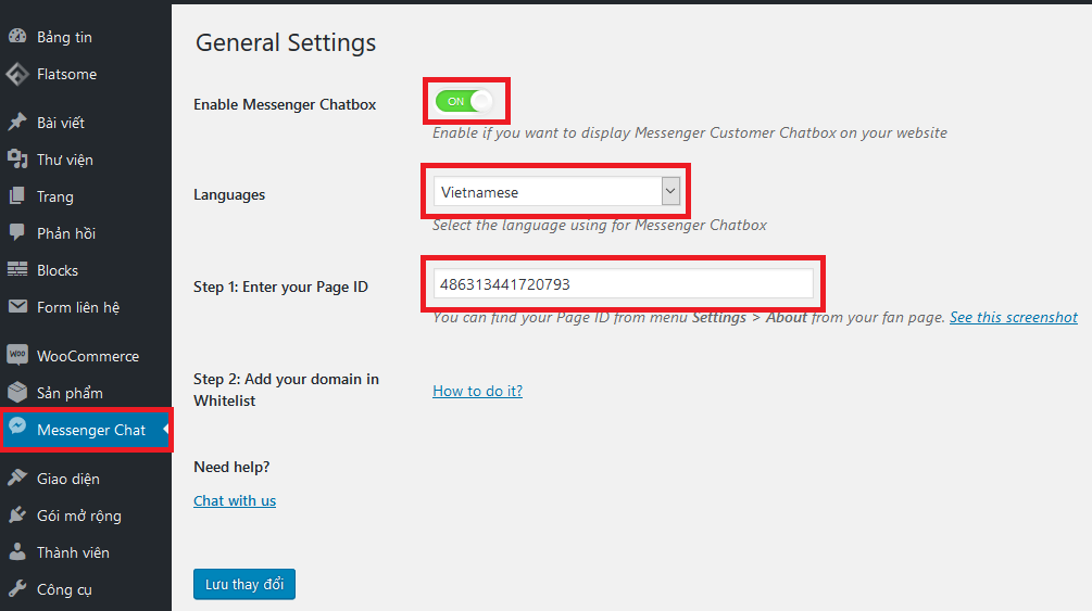 Hướng dẫn cài đặt Messenger Customer Chat Facebook (Livechat Facebook)