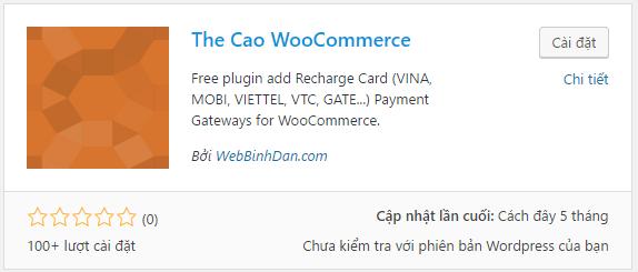 Tích hợp tính năng thanh toán bằng thẻ cào điện thoại cho WooCommerce