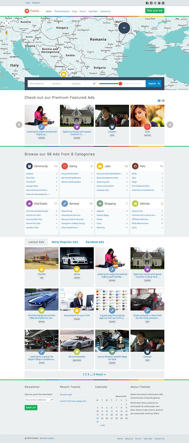 Theme WordPress làm website rao vặt - FlatAds