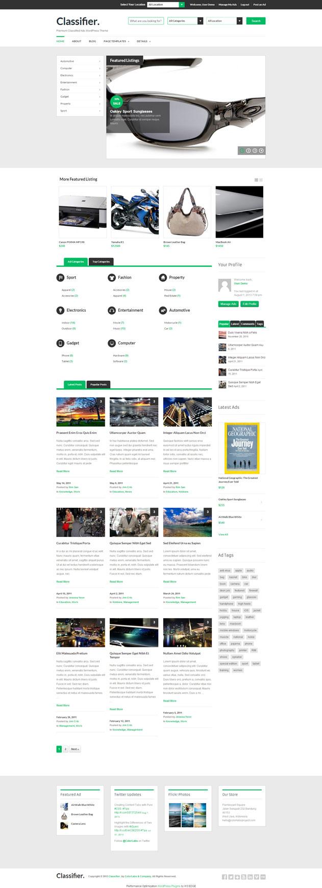 Theme WordPress làm website rao vặt -