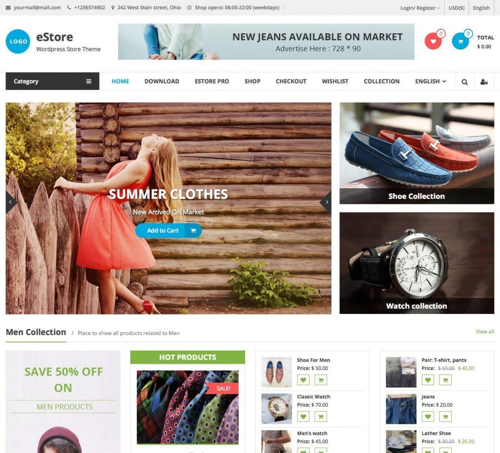 Tổng hợp theme WordPress bán hàng miễn phí chuẩn SEO 2018