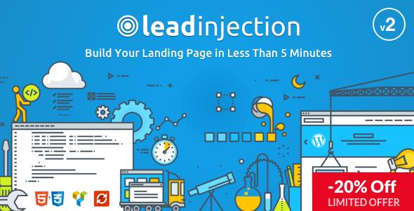 Leadinjection – Theme WordPress Landing Page tốt nhất
