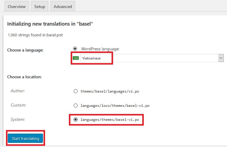 Việt hóa theme WordPress bằng plugin Loco Translate
